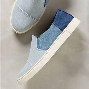 Frye Two-tone Denim Slip-on Sneaker Sz 7